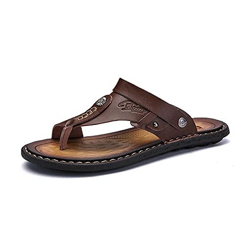 NISHIWOD Zapatillas Casa Chanclas Sandalias Sandalias para Hombre Zapatos De Verano para Hombre Zapatillas De Ocio Chanclas para Hombre Calzado Cómodo Sandalia Suave 41 Caqui