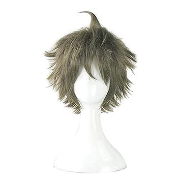 Linna hajime hinata Cosplay Short Wig Danganronpa Heat Resistant Synthetic Hair Men and Women Halloween Carnival Party Wigs