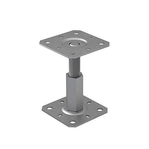 Stützenfuß Pfostenträger höhenverstelbar Gewinde - PR - 100x130x100