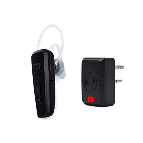 HYS Radio Wireless Bluetooth Earpiece Walkie Talkie Headset Wireless Dongle 2 Way Radio Earpiece for Two Way Radio Kenwood Baofeng UV-5R/888S/UV-5R (Black)
