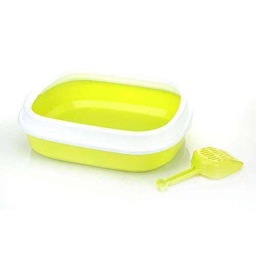 Jlxl Pet Toilet Anti Splash kattenoilet, kattenhond dienblad met schep, Clean Toilet Home kunststof zandbak accessoires, 45 * 39 * 13 cm 9.25
