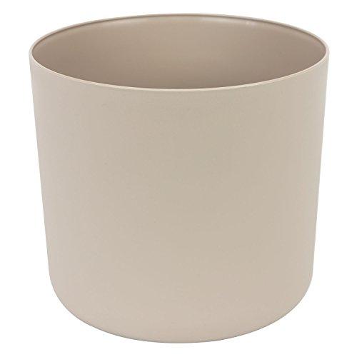 Classique cache-pot en plastique Aruba 25 cm en taupe couleur