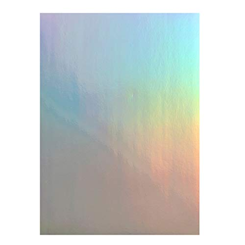Printable Vinyl Sticker Paper - 20 sheet Holographic vinyl printing paper - Dries Quickly Waterproof Sticker Paper Rainbow Vinyl Sticker Paper for Inkjet/Laser Printer (Holographic)