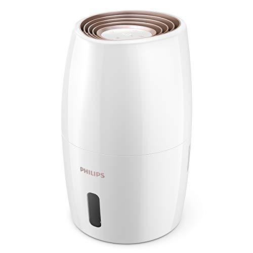 Philips 2000 Series HU2716/10 - Umidificatore d'aria, respira facilmente e dormi in modo tranquillo Umidifica l'aria secca in modo igienico, giorno e notte, Bianco
