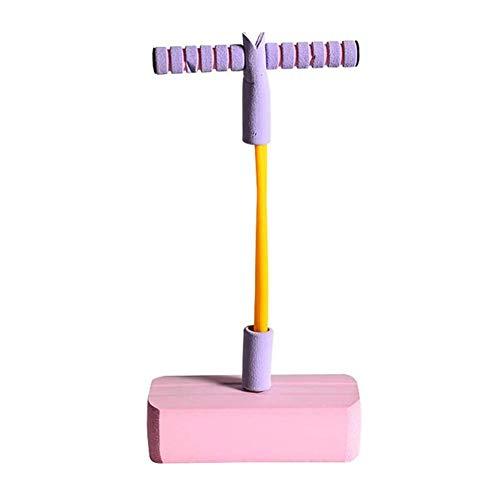 Saltador Saltar Stick Safe Fun Foam Poam Pogo Jumper, 3 veces estiramiento, Sonidos graciosos graciosos, Capacidad de 250 libras, Salto Durable Squeak Pogo Stick Kids (2 Colores) (Color: Rosa)