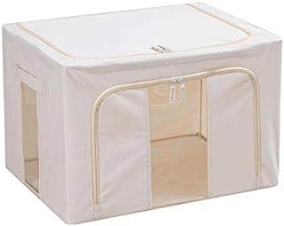 Lpiotyucwh Paniers et Boîtes De Rangement, Boîte de rangement en tissu Oxford avec cadre en acier pour vêtements de lit de...