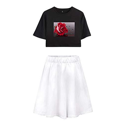 Trainingspak Crop Top T-shirt en Sportrok 2-delige set Gym Outfit-prints Payton Moormeier Sportwear Trainingspak Sweatsuit Voor hardlopen Jogging Yoga Casual A32059TXDQ
