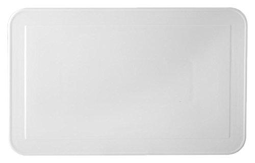 HOTELWARE Rayures Plat rectangulaire, 37 x 23 cm, Porcelaine, Blanc
