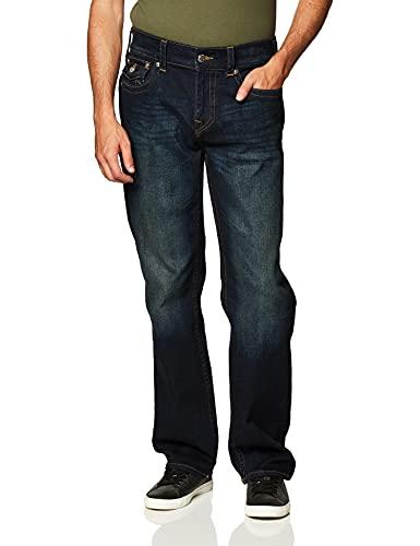 True Religion Men's Ricky Straight Leg Jean with Back Flap Pockets, Last Call, 40W X 32L