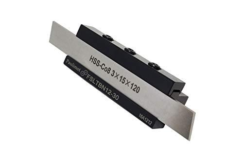 PAULIMOT Abstechstahlhalter, Schafthöhe 12 mm, mit HSS-Messer (8% Kobalt)
