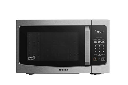 Toshiba ML-EM34P(SS) Smart Countertop Microwave Oven Compatible with Alexa, Humidity Sensor and Sound on/Off Function, 1100W, 1.3 Cu Ft, Stainless Steel
