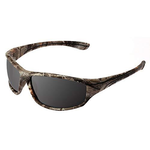 DFIHDCN Gafas de Sol TR90 + Gafas de Sol polarizadas de Goma Gafas de Sol con Montura de Camuflaje Gafas de Sol para Hombres Gafas UV400