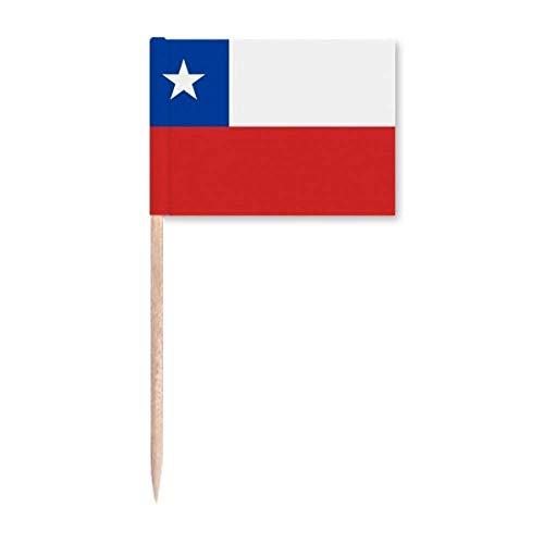 Chile Nationalflagge Südamerika, Länder, Zahnstocher-Flaggen, Marker, Party-Dekoration
