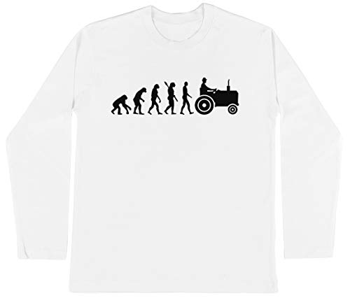Evolutie Trekker Unisex Kinder Jongens Meisjes Lange Mouwen T-shirt Wit Unisex Kids Boys Girls's Long Sleeves T-Shirt White