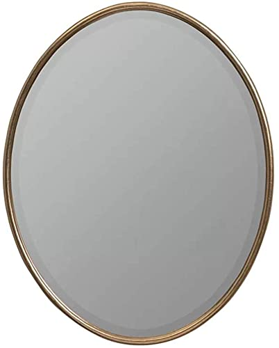 Badrumsspegel Vattentät Upplyst LED Badrumsspegel, Speglar Vägg för vardagsrum Guld, Dekorativ vägghängande Makeup Oval Badrum Toalett Badrumsskiva (Färg: Mörkguld, Storlek: 60