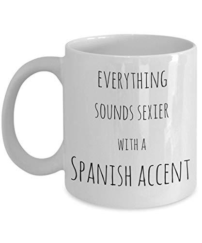 Taza de regalo divertida con texto en español, diseño de raíces españolas de España, latinoamérica, 325 ml, divertida taza de café