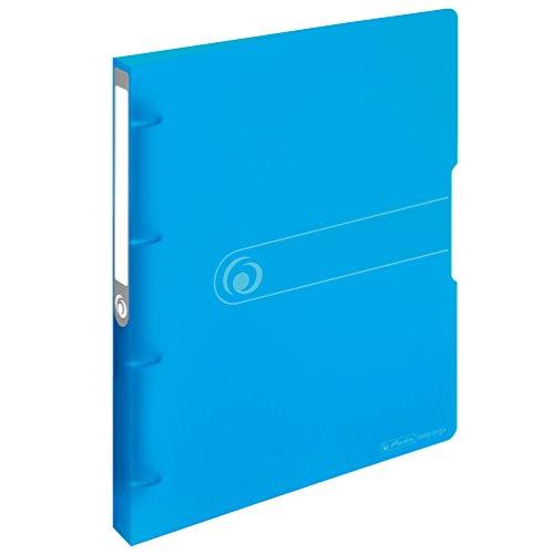 Herlitz 11217148 Ringbuch A4, PP, 4-Ring-Kombi-Mechanik, 2,7 cm Rücken, 16 mm Füllhöhe, blau