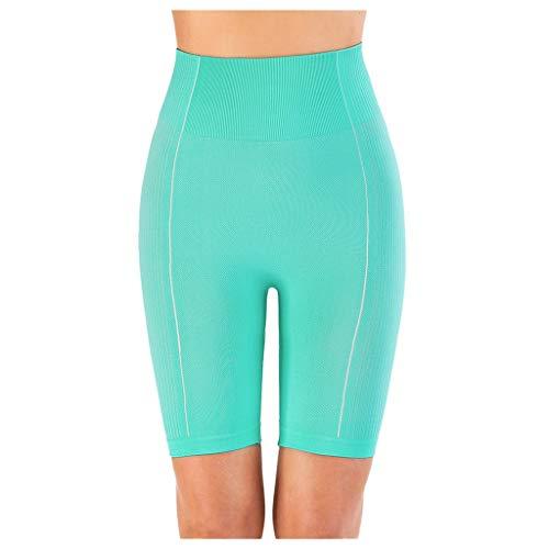 Smoxx Women's Knee Length Tights Yoga Shorts Workout Pants Running Leggings Compression Workout Basic Slip Bike Shorts Mint Green