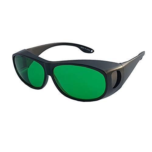 SMAA Augenschutzbrille 620-660NM Wellenlänge, UV-Schutz, rote Licht-Halbleitervorrichtung, Laserpointer, kompatibel kurzsichtige Gläser für Beauty & Kosmetik Augenschutz