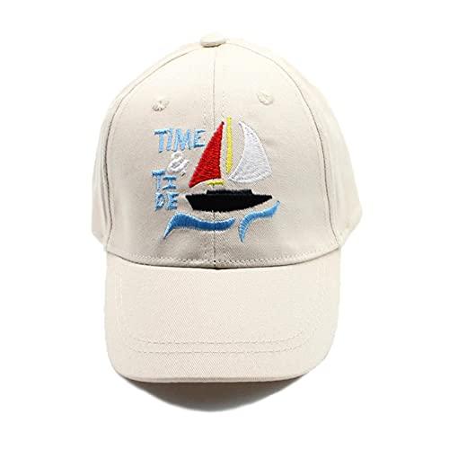 Sombrero de Sol Chico letra sombrero niños béisbol gorra de sol ajustable sombreros chicas picos gorras verano invierno dibujos animados hip hop sombreros ( Color : Light Yellow , Size : One Size )