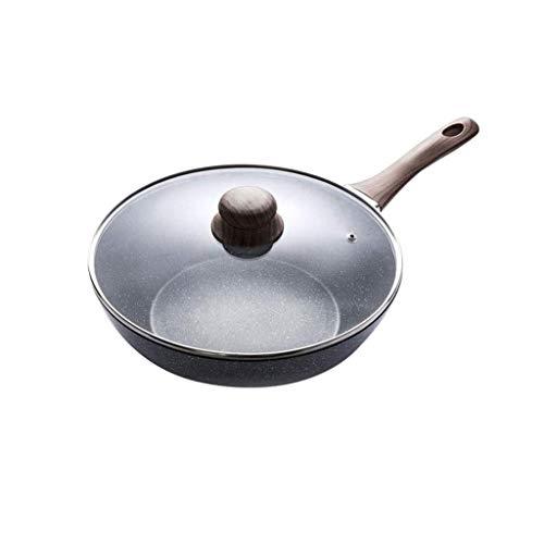 YUTRD ZCJUX Wok - Acciaio Inossidabile Wok, Antiaderente Stir Fry Pan Compatibile, AntiGraffio, lavastoviglie e Forno Sicuro