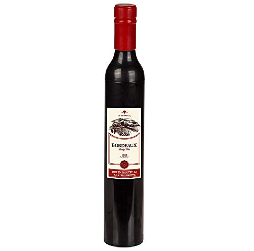 Paraplu/paraplu/wijnfles - wijn - rode wijn - het grappige design brengt ook bij slecht weer een stralende