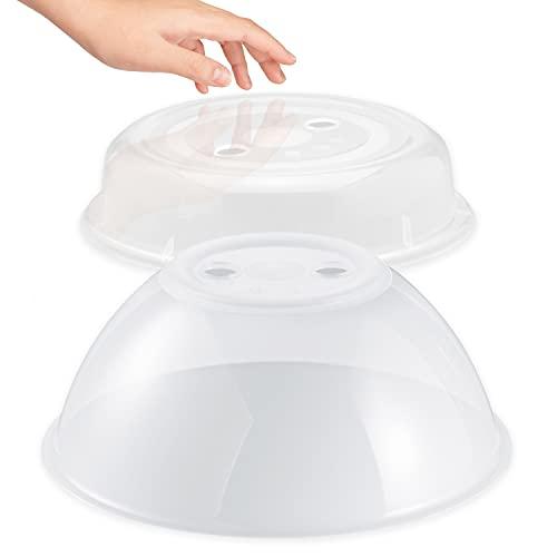 Hausfelder Juego de 2 cubiertas para microondas altas y planas, sin BPA
