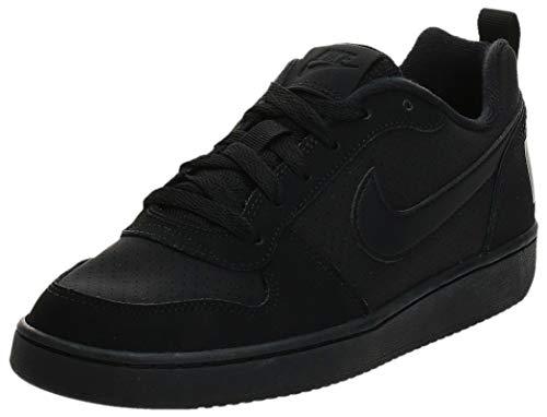 Nike Court Borough Low (GS), Scarpe da Basket Unisex-Adulto, Nero (Black/Black/Black 001), 38.5 EU