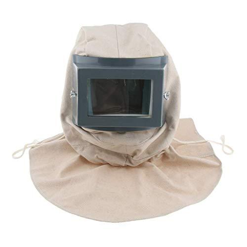 juler Máscara de Capucha para chorreo de Arena Blanca, Peso Ligero, cómodo de Llevar