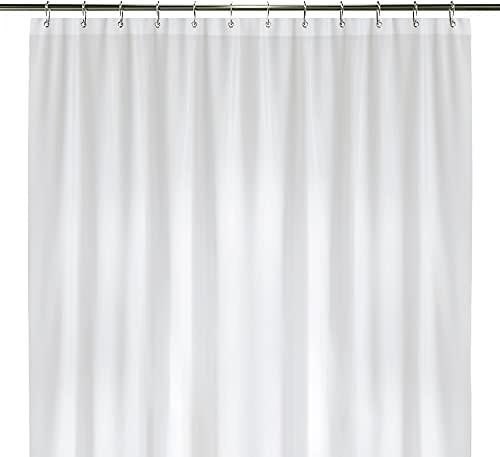 "LiBa PEVA 8G Bathroom Shower Curtain Liner, 72"" W x 72"" H, White, 8G Heavy Duty Waterproof Shower Curtain Liner"