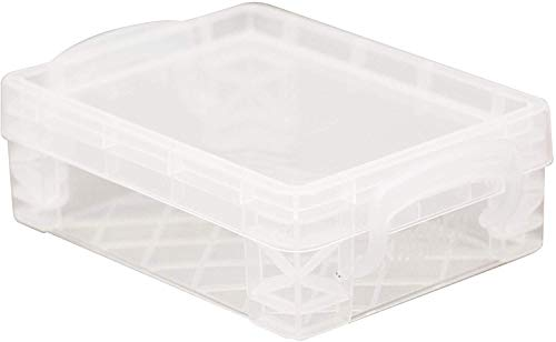 Super Stacker Crayon Box, 4.75 x 3.5 x 1.5 Inches, Clear, 1 Box (40311), 4 Pack
