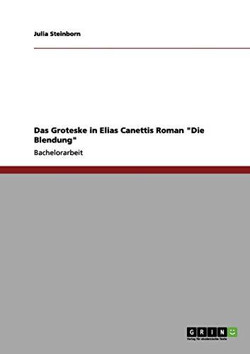 Das Groteske in Elias Canettis Roman Die Blendung