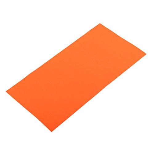 MagiDeal Selbstklebender Reparatur Aufkleber Polyester Flicken für Zelte, Rucksack, Luftmatratze - Camping Zubehör - Orange