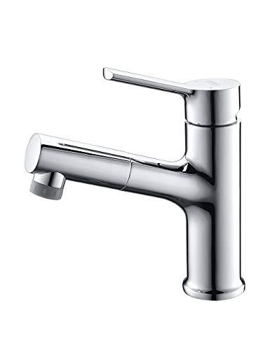 Umi. By Amazon - Armatur Bad 2 Strahlarten mit Brause Ausziehbar Wasserhahn Ausziehbar Waschbecken Mischbatterie Waschbeckenarmatur Universal
