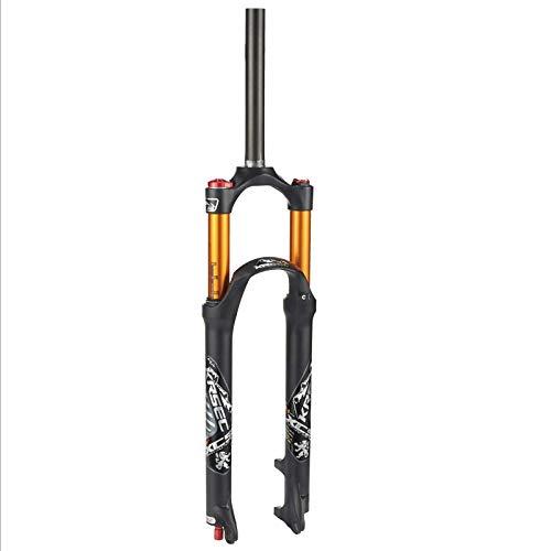 HCJGZ Forcella Ammortizzata per Mountain Bike, 26 27,5 29 Pollici Materiale in Lega di Alluminio di Magnesio Forcella Leggera per Bici Smorzamento Regolabile Forcella A Gas per Bici MTB