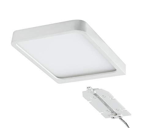 Paulmann 92032 LED Möbelleuchte Aufbauleuchte Vane eckig incl. 1x6,7 Watt Schrankleuchte Weiß matt Schranklicht Alu Küchenlampe 2700 K