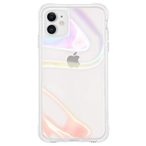 Case-Mate - SOAP Bubble Plus - Case for iPhone 11 - Swirl Effect - 10 ft Drop Protection - 6.1 inch - Iridescent +