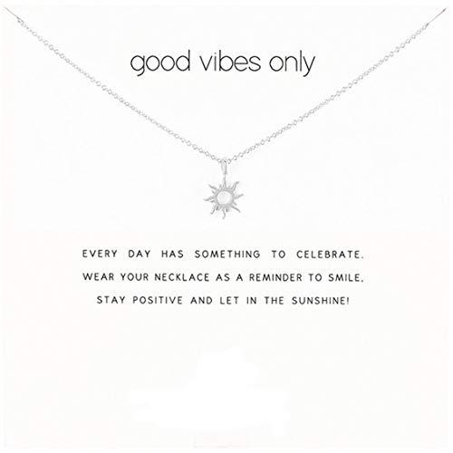 Idiytip Damen Halsketten Sterling Silber Anhänger Vergoldete Halskette Schmuck für Damen Mädchen, Brilliant Silver + White Card