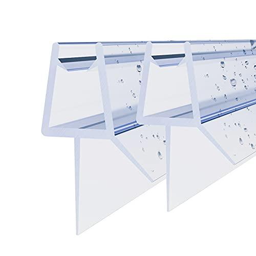 Duschdichtung 2 x 60cm Für Duschtüren Duschkabinen Badewannenaufsätze Duschdichtungen Ersatzdichtung für 5mm/ 6mm Glasdicke Wasserabweiser Schwallschutz Spritzschutz #GUG-C066
