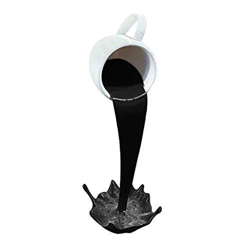 sympuk Ornamento Flotante de la Taza de café, decoración única de la Escultura de la Taza de café Que se derrama Flotante del Arte para el hogar, Escritorio, estantería Convenient