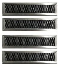 """GE WB02X10943 Carbon Filter Compatible JX81D Charcoal 2-1/2"""" x 11"""" x 3/8"""" Replacement 4-Pack"""