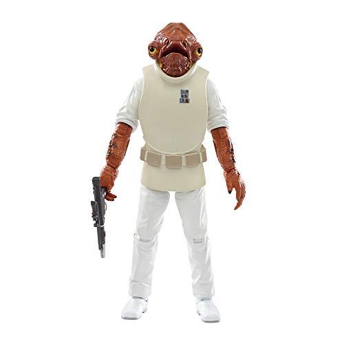 Hasbro Star Wars, Star Wars The Black Series - Ammiraglio Ackbar (Action figure 15 cm da collezione, ispirata al film Star Wars: Il ritorno dello Jedi), (E93565X0)