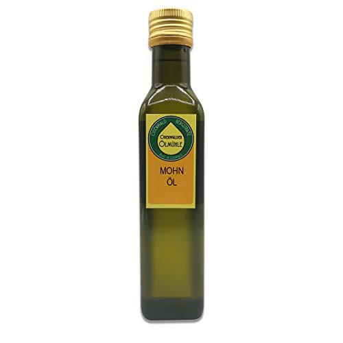 Odenwälder Lebensmittel – 250ml premium Mohnöl – Made in Germany – bestes Öl aus Mohnsamen