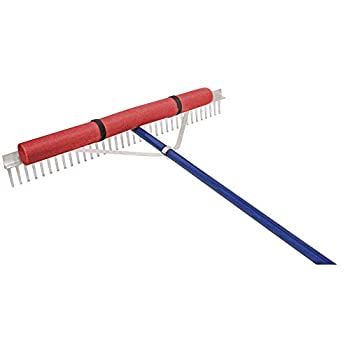 Extreme Max 3005.4098 36  Floating Weed Lake Rake with 11  Extension Handle and 50  Rope Silver