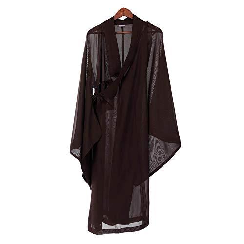 boeddhistische monnik-kostuum zenstof hennep tuniek zenboeddhisme meditatie pak lang monniken meditatie monniken 36#
