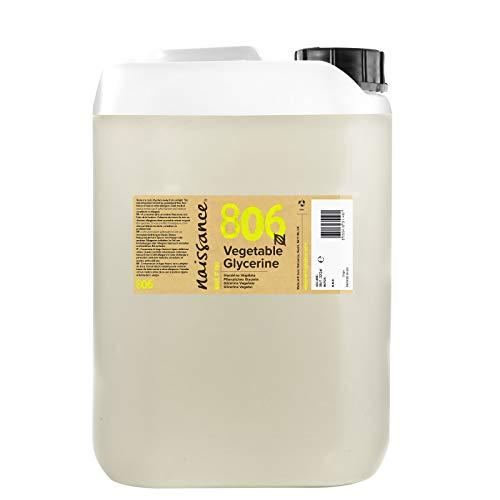 Naissance Glicerina Vegetal n. º 806 – 5 litros– Vegana, grado EP y no OGM – Humectante natural ideal para elaborar productos cosméticos para la piel y el cabello.