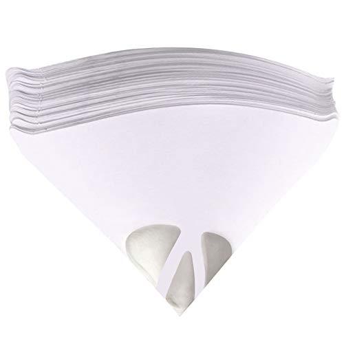 Jeteven Strainer Cone Silicone Funnel Filter Tip Cone Shaped Fine Nylon Mesh Funnel W/Hooks Disposable (100pcs)