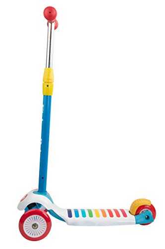 Fisher-Price 3-Wheeled Scooter with Fun Xylophone Deck, with Light Up Wheels, Ultra-Lightweight, Comfortable & Safe Durable & Easy to Ride, Designed for Children Ages 3 to 8, Blue