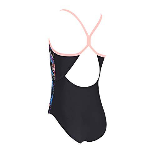 Zoggs Bañador para niña Shimmer Sprintback, Niñas, Traje de baño de una Pieza, 505719130, Multi/Negro, 30 UK, 140 cm, 10 Years