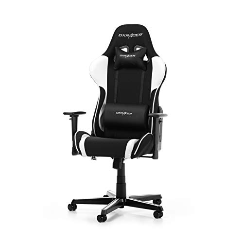 DX Racer OH/FL11/NW - Asiento Gaming Negro/Blanco